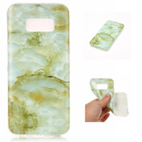 TPU IMD Marble Case pour Samsung Galaxy S3 i9300 / S4 i9500 / S5 i9600 / S6 / S6 Edge / S7 / S7 Edge / S8 / S8 Bord Soft Soft Cover
