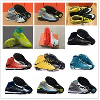 Wholesale Nailed Shoes Men - 2017 New CR7 Hypervenom X Proximo II DF TF Nail Mens High Quality Airs Cushion Soccer Boots for Cleats Sports Football Shoes Size6.5-11