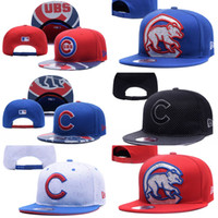 Wholesale Wholesale Hats Caps Embroidered - Wholesales Chicago Cubs Baseball Cap Embroidered Team logo Fitted Cap Sport Fit Hats Colorfull Free Shipping