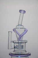 Wholesale Bake Glass - New 420 purple accent Wake & Bake New Bongs Glass oil rigs incycler water pipes with matrix stereo perc with female joint