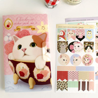 Wholesale Jetoy Cute - Wholesale- 8 Pcs   Set Jetoy Cute Cat Suit Decorative Stickers Diary Stationery Stickers Affixed Diary Memo Pad Deco Sticker