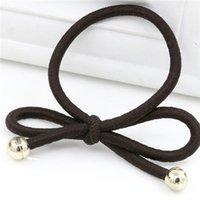 fio de borracha venda por atacado-multi faixa do cabelo do círculo do cabelo do enrolamento do fio da cor, corda de borracha