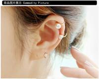Wholesale Types Ear Studs - Korea 's first jewelry simple temperament single pearl ear clip U - type ear - pierced ear clip earrings earrings wholesale