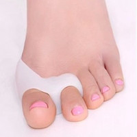 Wholesale Finger Hole - Silicone Gel foot fingers Two Hole Toe Separator Thumb Valgus Protector Bunion adjuster Hallux Valgus Guard feet care