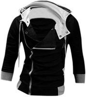 katilin inançlı hoodie kostümü toptan satış-Kukucos Oyunu Film Rakam Assassin creed Tişörtü Tam Zip Hoodie Cosplay Kostüm Jung Insanlar Için En Iyi Hediye Cosplay Kostüm