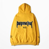 ingrosso justin bieber hoodie purpose tour-All'ingrosso-Autunno Hoodies Justin Bieber paura del dio Purpose Tour Giallo Uomo Donna Warm Fleece Hoodies Felpa con cappuccio 3XL