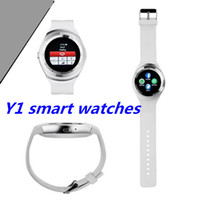 Wholesale Business Watch For Women - 2017 Y1 Smart Watches Round Support Nano SIM &TF Card With Whatsapp And Facebook Men Women Business bluetooth Smartwatch For IOS Android