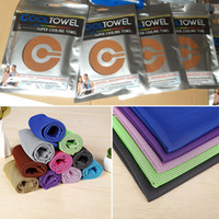 Wholesale Magic Hair Dry Drying Towel - 88*33cm Magic Ice Cold Towel Cooling Summer Sunstroke Sports Exercise Cool Quick Dry Soft Breathable Cooling Towel Have Stock WX-T13