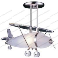 Wholesale Plane Ceiling Light - Elk Lighting Satin Nickel Prop Plane Pendant Light Ceiling Lamps for Kids Room free shipping MYY