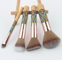 Wholesale Hair Fantasy - NEW Anmor Travelling Makeup Brush Set Fantasy Makeup Brushes Synthetic Powder Blush Eyeshadow Make Up Brushes