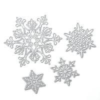 Wholesale Dies For Scrapbooking - 4pcs set Snowflake Cutting Dies Christmas Metal Cutting Dies Stencils for DIY Die Cut Stencil Decorative Scrapbooking Craft