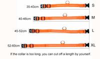 nachtlichtfarben großhandel-Reine Farbe Haustier Hund Katze Led Kragen Nacht Leuchten Blinken Sicherheit Blei Halskette Leine Verstellbare XS S M L XL Verschiedene Farben