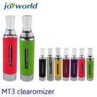 Wholesale Electronic Cigarette Clearmizer - Wholesale- smoke electronic MT3 Atomizer Clearomizer vaporizer electronic cigarette cartomizer MT3 clearmizer suit evod ego battery 30pc YY