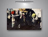 Wholesale One Piece Canvas Oil Paintings - Single Unframed One Piece Anime Abstract Painting Black Oil Painting On Canvas Giclee Wall Art Painting Art Picture For Home Decorr