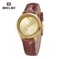 Wholesale Watch Import Japan - Luxury Watches Lady Casual Sports Watches Women Watch Japan Import Movement Waterproof Leather Strap Watch simulation Movadolt For BELBI