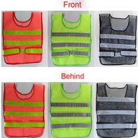 Wholesale Construction Clothing Wholesale - 2017 Safety Clothing Reflective Vest Hollow Grid Vest High Visibility Warning Safety Working Construction Traffic Vest XL-A366