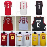 Basketball Men Sleeveless 2017 New Men 3 Chris Paul Red White Black  Basketball Jerseys Chris Paul 22d2d19e6