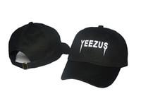 Wholesale White Polo Cap - 2017 Yeezus Cap Men Polo Hat 100% Cotton Chapeau Strapback Snapback Fitted Hats Adjustable Snapback Caps Gorras 6 Panel Hat Hip hop cap
