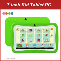 Wholesale Cheap Kids Touch Screen Tablets - Wholesale- 7 Inch Cheap Kids Tablet PC Android 5.1 Quad Core 512MB RAM 8GB ROM Capacitive Screen Dual Cameras