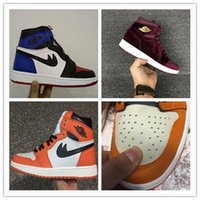 Wholesale Winter Shoes Ankle High - 2017 Air Retro 1 Men Basketball Shoes Retro OG High Ankle Shattered Backboard Away Sports Sneaker Size 40-47