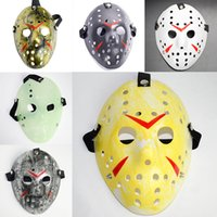 Wholesale jason voorhees masks resale online - Masquerade Masks Jason Voorhees Friday the th Horror Movie Hockey Mask Scary Halloween Costume Cosplay Festival Party Mask NEW WX9