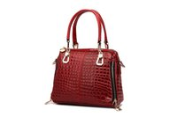 Wholesale Crocodile Leather Bags For Women - genuine leather crocodile shoulder bag purses and handbags purse strap handbag for women ladies purses with zipper