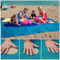 Wholesale Waterproof Outdoor Mattress - Sand Leakage Mattress Summer Outdoor Beach Pads Mat 200cm x 200cm 200cm x 150cm Waterproof Hiking Camping Picnic Blankets