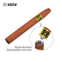 Wholesale E Liquid Cigar - Original Mlife Vape Pens Starter Kits Rechargeable Cigar 900mAh Battery 1.3ml E-liquid Tank Evaporators Vaporizer Amazing Design