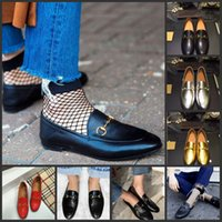 Wholesale Online Celebrities - Hot online Jordaan Metallic Silver Gold Blue Loafers Shoes Comfortable Princetown leisure Flats Celebrity Street Style Women Casual Shoes