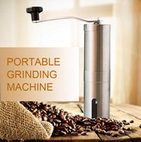 Wholesale Precision Manual - Hot Stainless Steel Manual Coffee Grinder Manual Hand Coffee Makers Conical Burr Mill for Precision Brewing Brushed with retail packing