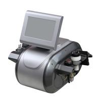 tripolar radio frequency ultrasonic cavitation machine بالجملة-5 في 1 بالموجات فوق الصوتية التجويف الترددات الراديوية القطبين 8 القطبية RF بالموجات فوق الصوتية التجويف التخسيس آلة لرفع الجلد تخفيض الدهون