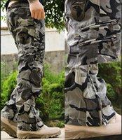 pantalones vaqueros de carga militar al por mayor-101 Airborne Jeans Casual Plus Size Algodón Transpirable Multi bolsillo Ejército Ejército Camuflaje pantalones de carga para hombres