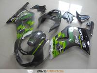 Wholesale Suzuki Gsxr Fairings Green - New motorcycle bodywork kit FOR SUZUKI GSXR 600 750 fairings K1 2001 2002 2003 GSXR600 GSXR750 01 02 03 ABS fairing kits nice green gray