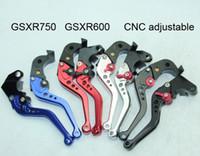 partes de la carrera de motos al por mayor-Ajustable CNC GSXR600 GSXR750 Motocicleta Palanca de Freno de Embrague Ajuste para Suzuki Motocicleta Refit Racing Motocicleta piezas