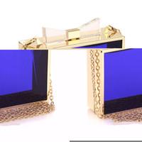 Wholesale Green Transparent Purse - Wholesale-2016 Luxury Women Transparent Acrylic Casual Clutch Clear Purse Evening Bag Handbags Personality Vintage Messenger Bag 5039
