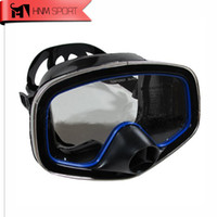 Wholesale Mask For Underwater - Wholesale- Classic Snorkeling Scuba Diving Mask Underwater Hunting Full Face Mask Goggles One-Window Silicone Purged Mask for Spearfishing