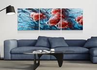 ingrosso olio di pesce di qualità-Pesce in alluminio Artigianato lucido moderno Spedizione gratuita Pittura ad olio Art Metallo Wall Sticker Regalo di alta qualità