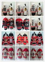 chicago blackhawks hoodies toptan satış-Erkek 2019 Chicago Blackhawks Kış Klasik Hoodies 88 Patrick Kane 19 Jonathan Toews 2 Duncan Keith Panarin Eski Zaman Tişörtü