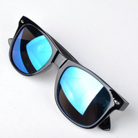 Wholesale Men Sunglasses Anti Uv - 2017 Summer Style Colorful Lens Men Sunglasses Vintage UV Protection Anti-Radiation Sunglasses Women Glasses