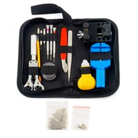 Vente en gros- 144 Pcs Watchmaker Watch Repair Tool Kit Retour Case Opener Remover Watch Strap Ressort pinces Bar Link Anti-magnétique Tournevis