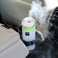 Wholesale Portable Ionizers - USB 5V power supply ultrasonic ionizer water diffuser with Mist Humidifier portable mini car air purifier humidifier