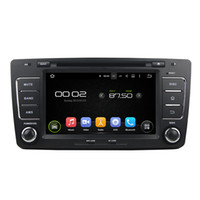 Wholesale Skoda Gps Navigation - 8'' Quad Core Android 5.1.1 Car DVD Player For Skoda Octavia 2012 2013 With Mirror Link GPS Navigation Map Wifi BT
