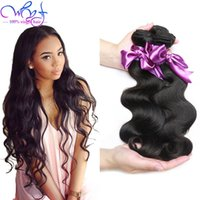 Wholesale Human Hair Bundle Packs - Grade 8A Malaysian Hair Weave Body Wave 3-Pack Unprocessed Malaysian Human Hair Extensions Wet and Wavy Virgin Hair Weave Bundles 100g pc