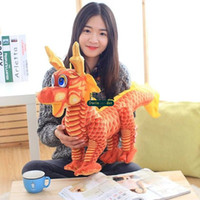 Wholesale big stuffed dragon resale online - Dorimytrader cm Cute Fashion Big Simulated Dragon Plush Toy inches Stuffed Soft Cartoon Chinese Dragon Doll Gift for Kids DY61562
