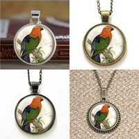 Wholesale Wholesale Earring 36 - 10pcs Water Birds Wading Bird Pendant Jewelry Victorian Bird 36 Glass Photo Cabochon Necklace keyring bookmark cufflink earring bracelet