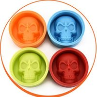Wholesale Bakeware Silicone Moulds - Creative Skull Head Silicone Mold for Cake Chocolate Cookies Baking Moulds Cupcake Kitchen Craft Tool Bakeware Pastry Tools CCA6536 1000pcs