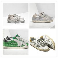 Wholesale gold goose - Golden Goose GGDB shoes silver sequined star with a little old men and women shoes dirty shoes