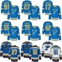 Wholesale Hockey Jersey St Louis - 2017 Winter Classic Premier St. Louis Blues Men's 27 Alex Pietrangelo 91 Vladimir Tarasenko 17 Jaden Schwartz Backes Stitched Hockey Jerseys