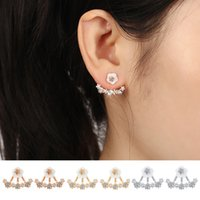 Hot New Design Fashion Cute Chrysanthemum Color Rhinestone Stud Earrings Jóias para Mulher Acessórios Gold / Silver / Rrose
