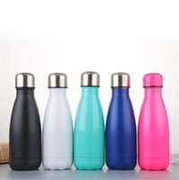 Wholesale Thermal Flasks Wholesale - 9 oz Cola Shape Stainless Steel Double Walled Vacuum Insulated Water Bottle Cup Sport Vacuum Flasks Thermoses Travel Bottles